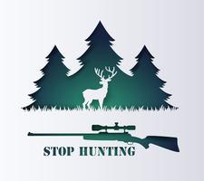 conceito de parar de caçar animais vetor