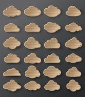 Vetorial, ilustração, de, nuvens, cobrança vetor