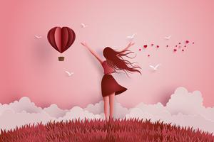 Conceito de amor da liberdade vetor