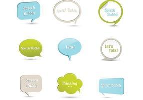 Pacote de vetores 3D Speech Bubble