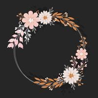 Guirlanda floral de vetor