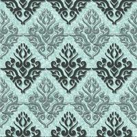 Teste padrão sem emenda floral da arte vitoriano. Fundo verde vintage