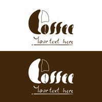 Projeto do logotipo de Coffr na arte gráfica de vetor do eps.