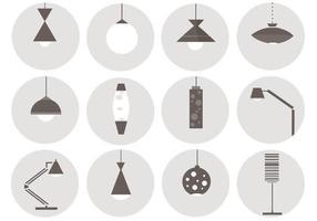 Pacote de vetores de lâmpada retrô