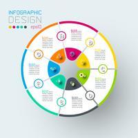 Infografia na arte gráfica de vetor. vetor
