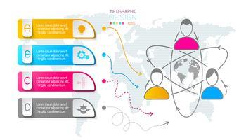 Barra vertical do negócio rótulos infográfico.