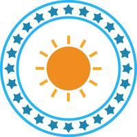 Vetor sol ícone