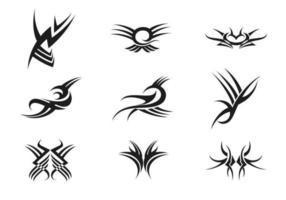 Pacote de vetores de tatuagem tribal