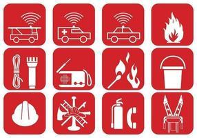 Pacote de vetores de segurança contra incêndios e emergência