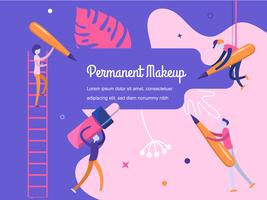 Conjunto de maquiagem vector