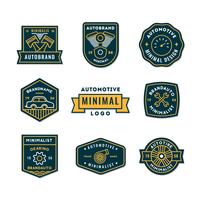 Conjunto mínimo de logotipo automático ou ícone em qualidade premium vetor
