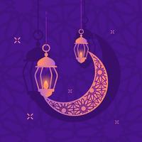 Elementos islâmicos do Ramadã vetor