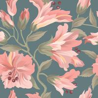 Padrão sem emenda floral. Fundo de flor. Florescer papel de parede com flores.