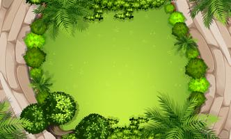 Vista aérea do jardim
