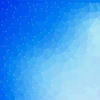 fundo digital de tecnologia azul com formas de triângulo vetor
