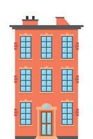 Moradia. Arquitetura clássica da cidade vetor