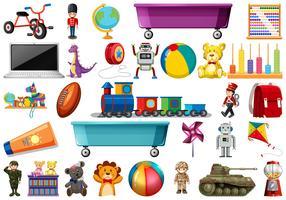 Conjunto de brinquedos para crianças vetor