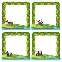 Jogo, de, animal, quadro vetor