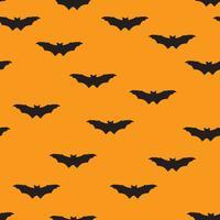 Padrão sem emenda de Halloween. Fundo de férias com morcego voador vetor