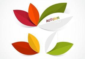 Pacote de vetores de folhas de outono abstrata