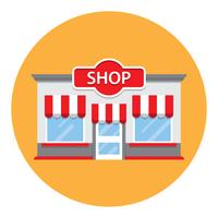 loja de mercearia de estilo retro