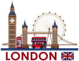 Marco de Londres em fundo branco vetor