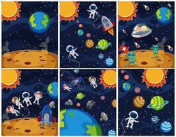 Jogo, de, espaço, fundo