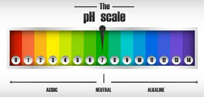 O diagrama de escala de ph vetor