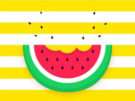 Vetor de fundo Pop de fatia de melancia