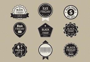 Pacote de vetor de rótulo de venda de sexta-feira negra