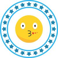 Vector Kiss Emoji ícone