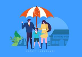 Ilustração de seguro de finanças familiares vetor