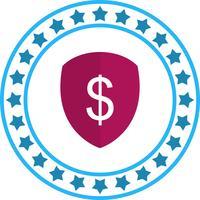 Vector escudo ícone do dólar