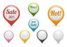 Pacote de vetores de ponteiro de vendas