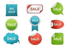 Pacote de vetores de etiqueta de venda