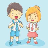 Mão desenhada Kids School Vector