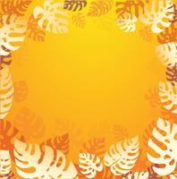 vetor de fundo de verão folhas tropicais