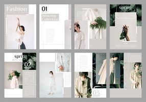 Vetor de modelo de folheto de moda minimalista Lookbook