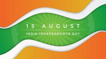 Dia da independência da Índia abstrato