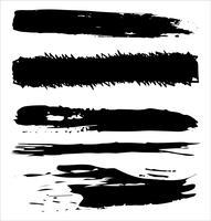 Traçados de pincel mão desenhada ilustração vetorial - vetor