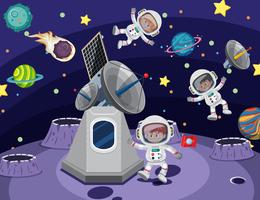 Astronauta no espaço vetor