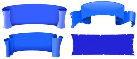 Modelos de banner na cor azul vetor