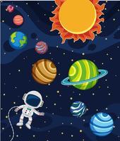 Uma cena do sistema solar