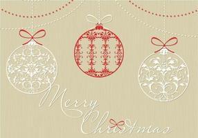 Pacote decorativo de fundo do vetor de ornamento de natal