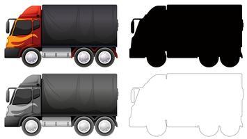 Jogo, de, caminhão, veículo vetor