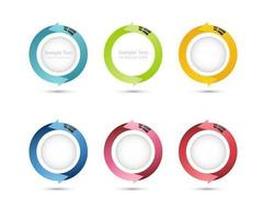 Pacote de vetores de seta 3D circular