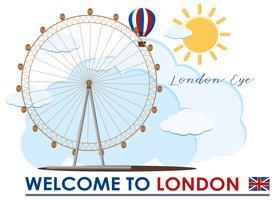 Inglaterra London Eye Travel Marco vetor