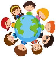 Crianças felizes em todo o mundo vetor