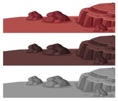 Conjunto de paisagem de pedra diferente