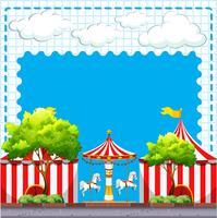 Cena do circo no dia vetor